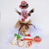 Βάζο με χριστουγεννιάτικα μπισκότα – χιονάνθρωπος –