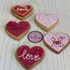 Love Cookies σε διάφορα χρώματα ( medium size )