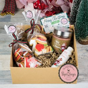 Gift Box Christmas Bites Cocoa Candle