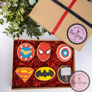 cookie box super heroes