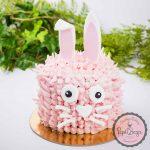 pink rabbit cake